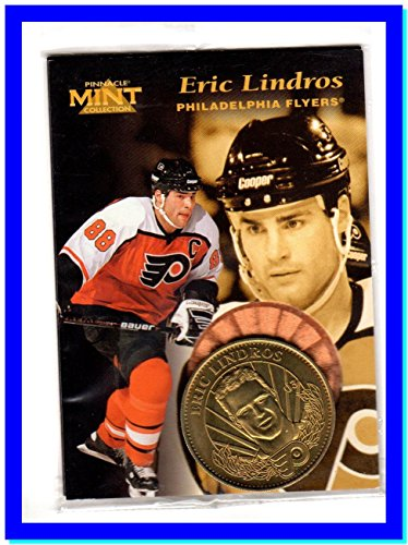 - 1996-97 Pinnacle Mint #P3A Eric Lindros Bronze Promo Sample SEALED WITH COIN PHILADELPHIA FLYERS HOF