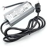 Hitlights 40 Watt LED Light Strip Power Supply, Waterproof - 3.3 Amps, 110V AC - 12V DC Transformer/Driver