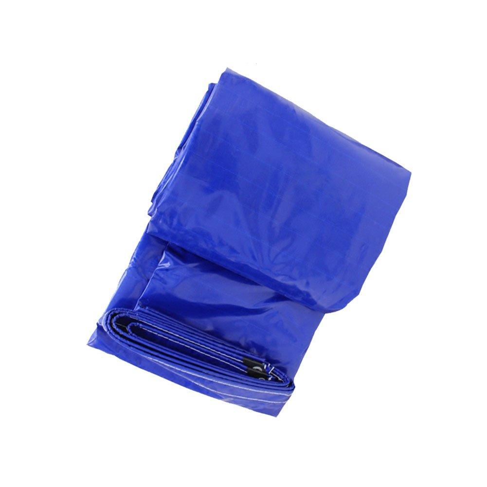 CHAOXIANG オーニング 折りたたみ可能 厚い 両面 防水 耐寒性 アンチサン シェード 耐摩耗性 耐食性 防湿性 防塵の PE 青、 550g/m 2、 厚さ 0.45mm、 13サイズ (色 : 青, サイズ さいず : 3x4m) B07DC5QW3C 3x4m|青 青 3x4m