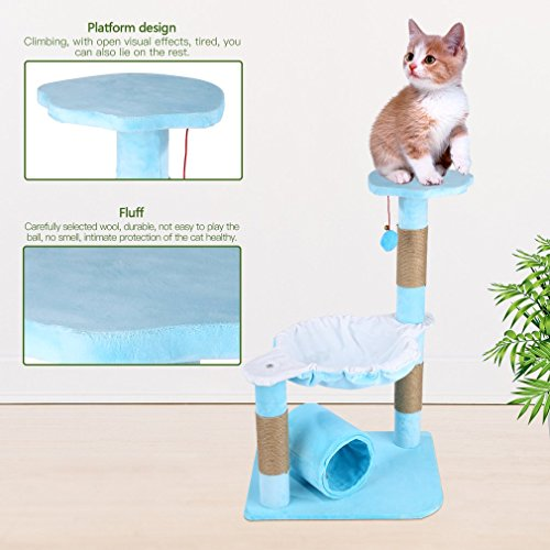 Blackpoolal Cat Kitten Scratching Post Tree With Rope And