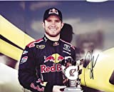 #3: AUTOGRAPHED 2009 Brian Vickers #83 Red Bull Racing POLE AWARD Signed NASCAR 8X10 Inch Glossy Photo with COA