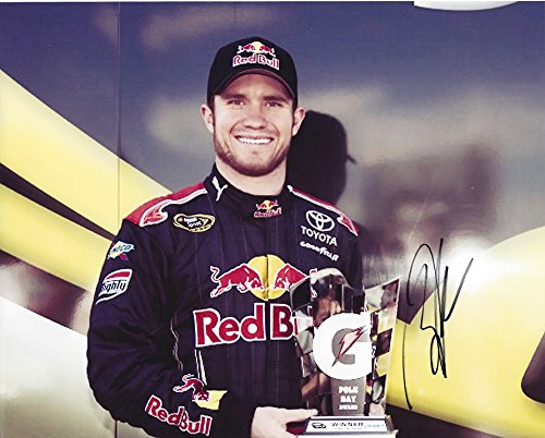 AUTOGRAPHED 2009 Brian Vickers #83 Red Bull Racing POLE AWARD Signed NASCAR 8X10 Inch Glossy Photo with COA by...