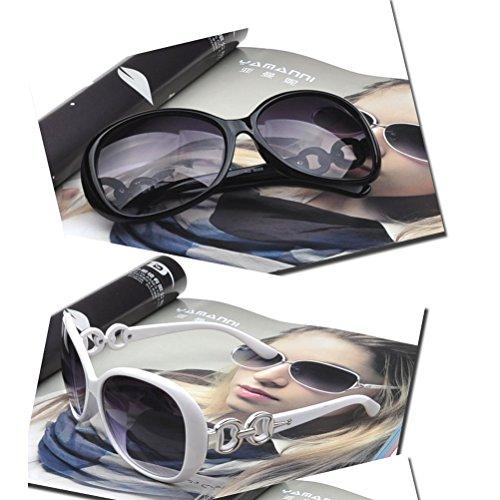 1 mujer KUKE para 4 estilo Gafas pieza 3 sol Fashion retro vintage de estilo URRq41wg