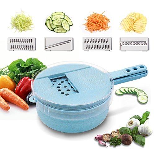 Vegetable Slicer Shredder Chopper Cutter Egg White Separator Multi Blades Kitchen Gadgets ()