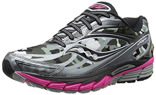 Saucony Womens Ride 8 GTX Running Shoe, Blanco/Negro/Rosa, 35.5 B(M) EU/3 B(M) UK