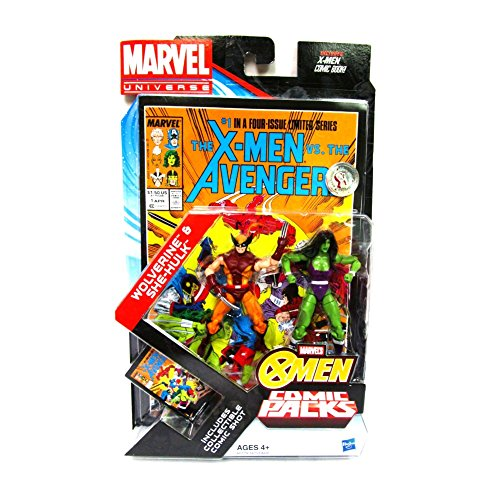 Marvel Universe Wolverine & She-Hulk Exclusive Comic Pack Includes Collectible Comic Shot & Comic Book
