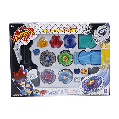 Metal Master Fusion Top Rapidity 4D Fight Rare Storm Pegasus/Flame Libra/Earth Eagle/ Lightning L-Drago Launcher Grip Gyro Toy Set