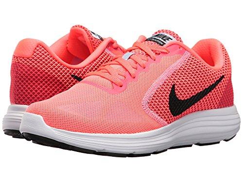 Nike Womens Revolution 3 Running Shoe  Hot Punch Black Aluminum White  10 B M  Us