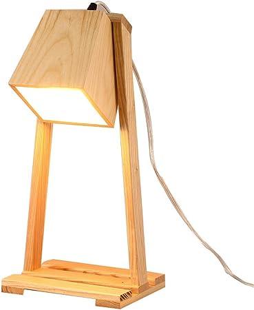 le plus fiable sortie d'usine lacer dans Lampe de table en bois - Simplicité moderne Rotatif Bureau ...