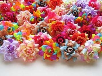 Amazon 100 assorted silk roses flower head 175 100 assorted silk roses flower head 175quot artificial flowers heads fabric mightylinksfo