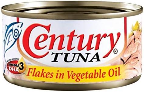 Century Tuna Flakes in Vegetable Oil 180g (3個) [並行輸入品]