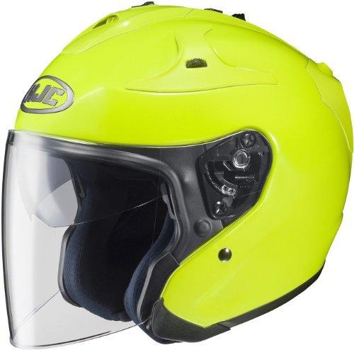 HJC FG-JET Open-Face Street Helmet - HiViz Yellow - MD