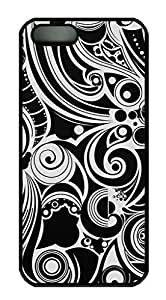 Black And White Swirls Protective Back Fits For SamSung Galaxy S5 Mini Phone Case Cover PC Black