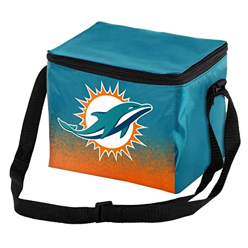 Forever Collectibles NFL Unisex Gradient Print Lunch Bag Coolergradient Print Lunch Bag Cooler, Miami Dolphins, Standard