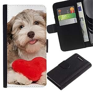 Stuss Case / Funda Carcasa PU de Cuero - Havanese Heart Valentines Love Dog Puppy - Sony Xperia Z3 Compact