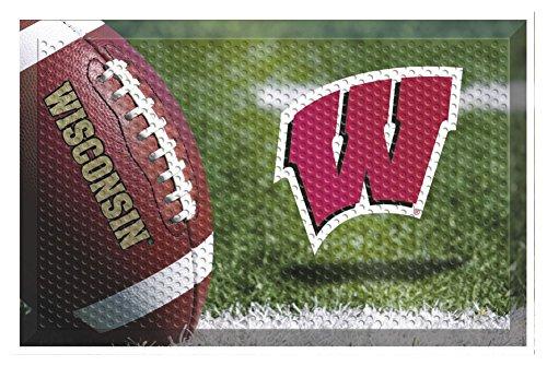 sin Team Door Mat Ball - Wisconsin Badgers Home Decor (Wisconsin Badgers Door Mat Rug)