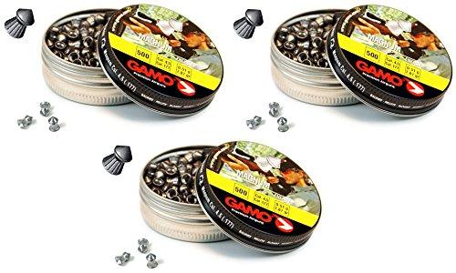 Outletdelocio. 3 latas de 500 perdigones Gamo Magnum de Copa-Punta 4, 5mm. Modelo 320234