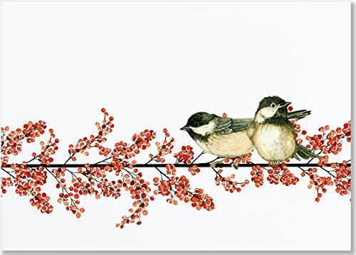 Winterberry & Chickadees Deluxe Boxed Holiday Cards (Christmas Cards, Holiday Cards, Greeting ()