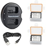 NP-FW50 Newmowa Replacment Battery (2 pack) and Dual USB Charger for Sony NP-FW50 and Sony Alpha a3000,Alpha a6000,A6300,Cyber-shot DSC-RX10,Cyber-shot RX10 IV
