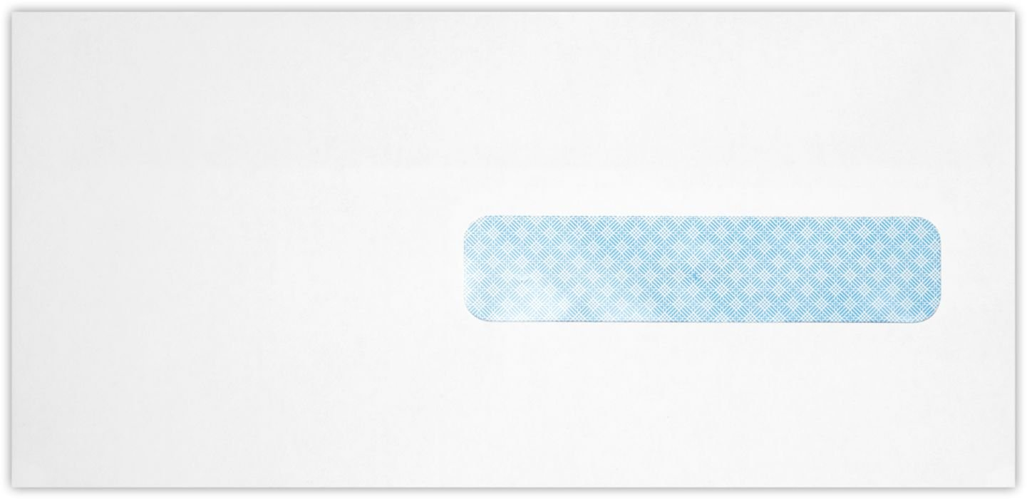 #10 1/2 Health Insurance Envelopes (4 1/2 x 9 1/2) - 24lb. Bright White w/ Sec. Tint (50 Qty.) | Ideal for Health Insurance forms, Featuring a right side Window | 1012RHW-W-50