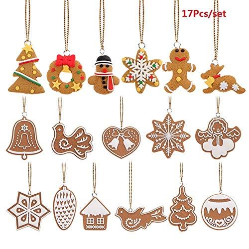 Pendant & Drop Ornaments - 6/11/17Pcs Christmas Ornaments