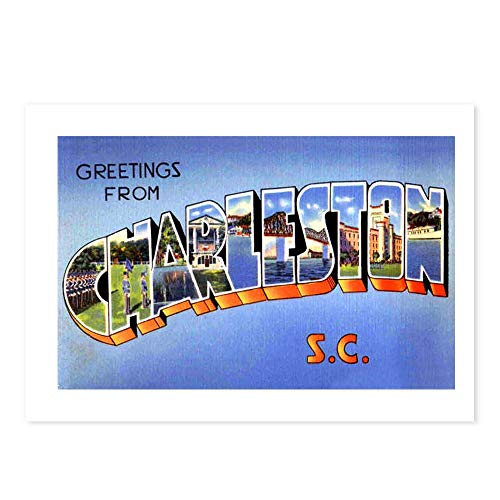 CafePress Charleston South Carolina Greetings Postcards (Pac Postcards (Package of 8), 6