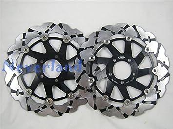 metebu (TM) nueva 2 x frontal de motocicleta negro Rotor del ...