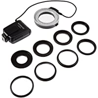 Polaroid Macro LED Ring Flash & Light For The Nikon D5300, D5000, D3000, D3200, D5100, D5200, D3100, D7000, D7100, D4, D800, D800E, D600, D610, D40, D40x, D50, D60, D70, D80, D90, D100, D200, D300, D3, D3S, D700, Digital SLR Cameras (Will Fit 52,55,58,62,67,72,77mm Lenses)