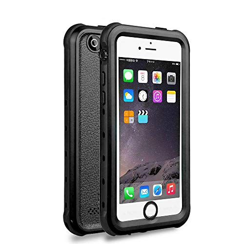 iPhone 5 5S SE Waterproof Case, Upgraded Shockproof Dropproof Dirtproof Rain Snow Proof Full Body Protective Cover IP68 Certified Underwater Case Built-in Screen Protector for iPhone 5S 5 SE (Black) (Best Protective Cover For Iphone 5s)