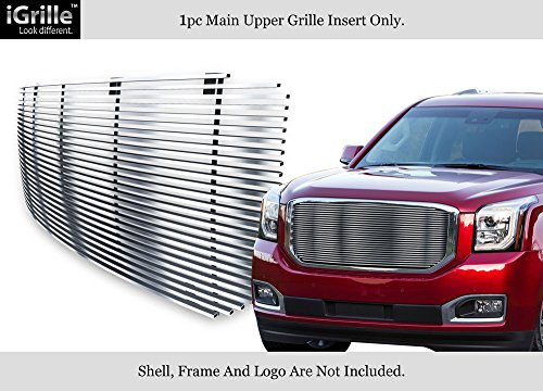 APS Compatible with 2015-2020 GMC Yukon Denali Stainless Steel Upper Billet Grille Grill Insert G86328C