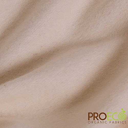 ProECO Heavy Bamboo Fleece Fabric (Made in USA, Natural, Sold by The Yard)