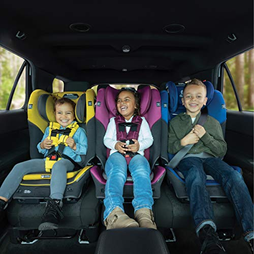 512 - Diono Radian 3QX 4-in-1 Rear & Forward Facing Convertible Car Seat | Safe+ Engineering 3 Stage Infant Protection, 10 Years 1 Car Seat, Ultimate Protection | Slim Design - Fits 3 Across, Jet Black