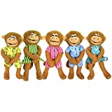 MerryMakers Five Little Monkeys Finger Puppet Playset, 5-Inch