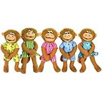 MerryMakers Five Little Monkeys Finger Puppet Playset, Set of 5, 5-Inches Each