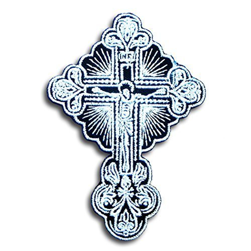 Crucifix Lord Celtic Jesus Cross Skull Christian Tattoo Religious Gaelic Irish Harley Lady Rider Biker Punk Heavy Metal Hard Rock Tatto Embroidered Iron on Badge Emblem Letter Morale (Religious Tattos)