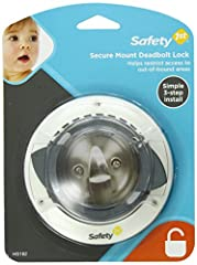 Keeps child from opening a deadbolt lock and escaping the home, no adhesives or drilling required – simply install, behind the existing deadbolt hardware, non marring design is easily removed when no, longer needed – no permanent damage to th...