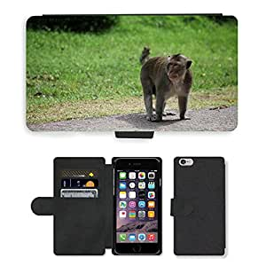 GoGoMobile Flip PU Leather Wallet Case with Credit Card Slots // M00118846 Monkeys Animals Mammals Wildlife // Apple iPhone 6 4.7""
