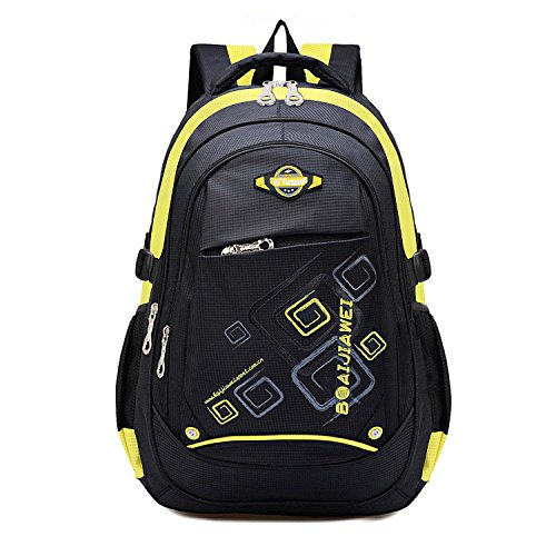 MAYZERO Waterproof School Bag Durable Travel Camping Backpack for Boys and Girls (Yellow-2)