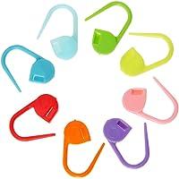 100pcs Locking Stitch Marker Lock Pins Plastic Ring Markers for Knitting Crochet