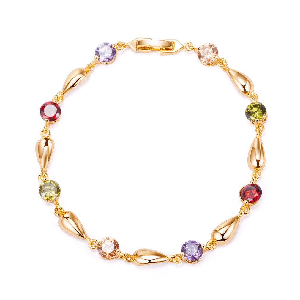 YAZILIND plaqué or bracelet mode goutte d'eau jolie zircon pour les femmes YAZILIND JEWELRY LIMITE 1076B0084