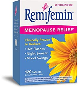 Enzymatic Therapy Remifemin Estrogen-Free Menopause Relief, 120 Tablets