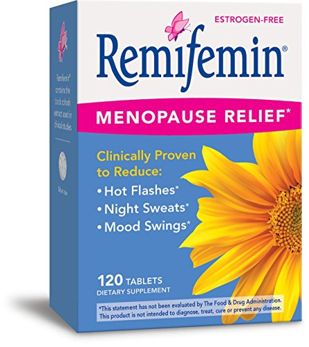 Enzymatic Therapy Remifemin Estrogen-Free Menopause Relief, 120 Tablets Herbal Hormone Replacement Therapy