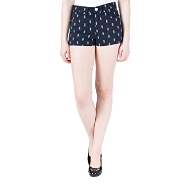 93cdbd6224 Image Unavailable. Image not available for. Color  Juicy Couture Women s  High Rise Denim Print Shorts ...