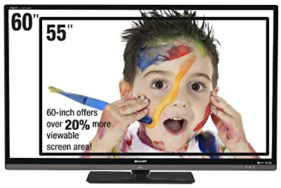 Sharp LC60LE6300U 60-inch 1080p 120 Hz LED HDTV (2011 Model)
