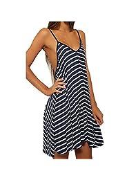 ENbeautter Women's Summer Maxi Dresses Loose Casual Plus Size Beach Dresses