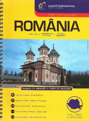 Romania Road Atlas (Country Atlas)