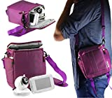 Navitech Purple Baby Monitor and Camera Carry Case Bag Compatible with The CityMama with Shoulder Strap