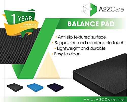 A2ZCARE Premium Quality Balance Pad Super Soft Pad Provides A Non Slip Textured Surface (Guideline Included)