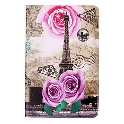 Price comparison product image For Samsung Galaxy Tablet, AMA(TM) Folding Stand Painted Leather Case Protective Cover for Samsung Galaxy TabA P580/P585 10.1 Inch (A)