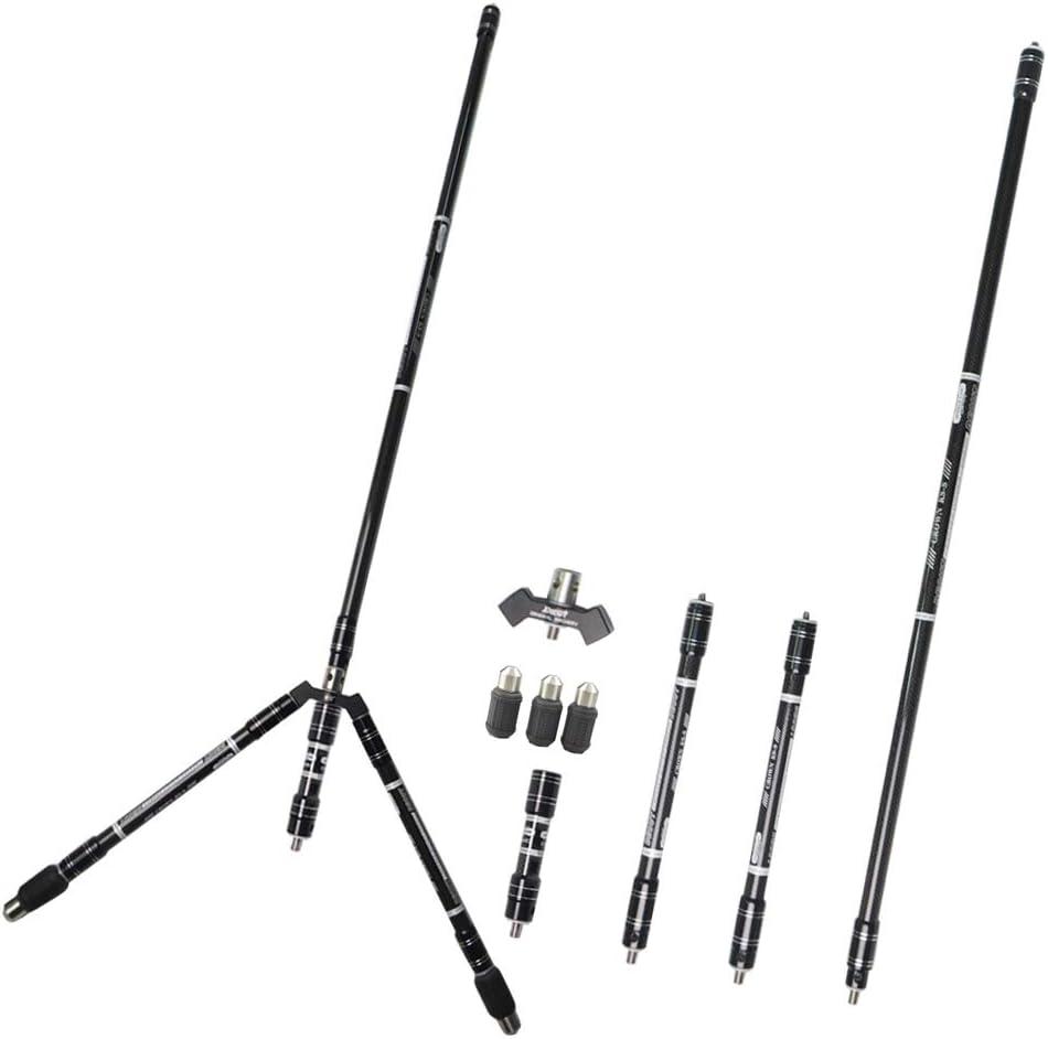 Syst/ème de Barre stabilisatrice de tir /à larc Ensemble stabilisateur en Carbone l/éger DE 30 Pouces pour archets recourb/és et composes